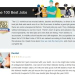 100 best jobs - dentist number 1 job of 2015