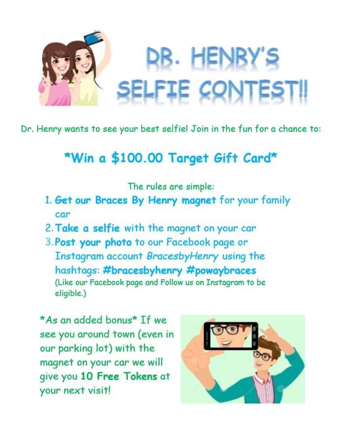 Dr Henry Selfie Contest Flyer