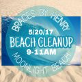 Braces by Henry Beach Cleanup